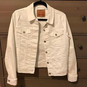 Jackets & Blazers - Levi's Denim Jacket - White Original Trucker